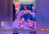 بیمار بیمارستانی که کیک است+فیلم
