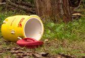 کشف جسد درون سطل شناور روی حوضچه!