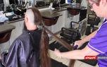 رکورد بلندترین موی ایستاده روی سر+فیلم