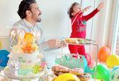 رضا قوچان نژاد در جشن تولد پسرش «دوران» +عکس