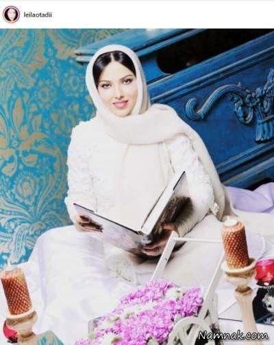 عکس متفاوت لیلا اوتادی با لباس سفید