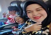 سلفی تلخ مادر و فرزندانش قبل از سقوط هواپیما+عکس