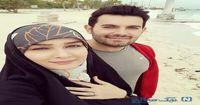 مژده خنجری در کنار همسر مجری اش +عکس