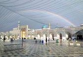 رنگینکمان در حرم امام رضا (ع)+عکس