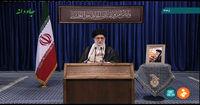 درج بخشی از وصیتنامه امام در تریبون رهبری +عکس
