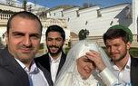 عکس لو رفته از فاطیما بهارمست در لباس عروس