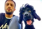 سلفی امیر جدیدی با سگ زشت + عکس
